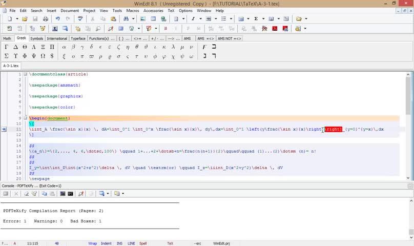 آموزش لتکس (LATEX) - جلسه سیزدهم - کشش و تنظیم در فرمولهای چندخطی