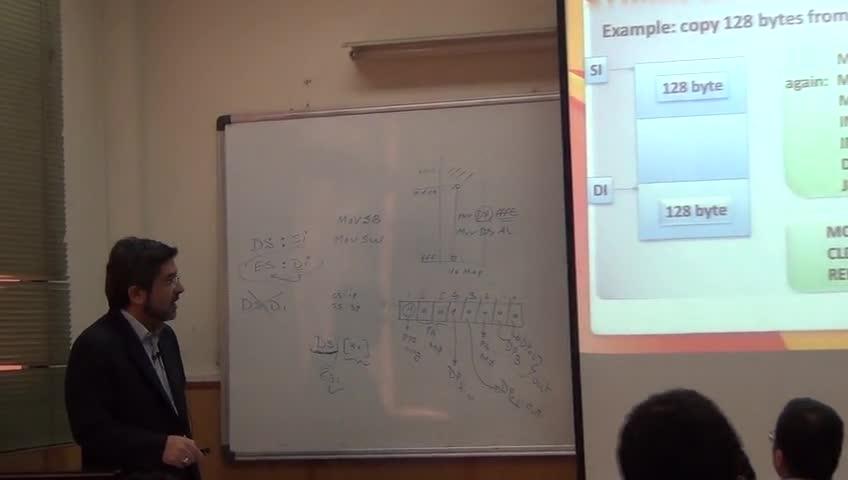 ریزپردازنده ۱ - جلسه هفتم - مثالهای برنامه نویسی 8086، 8255 در مود 0، ADC، کار با string