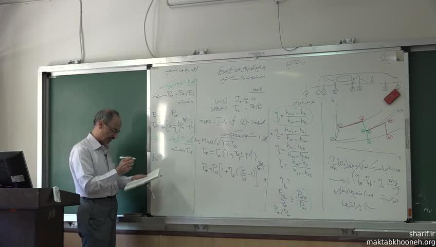 اصول پیشرانش (جلوبرندگی) - جلسه سیزدهم - تحلیل سیکل ترمودینامیکی توربوجت