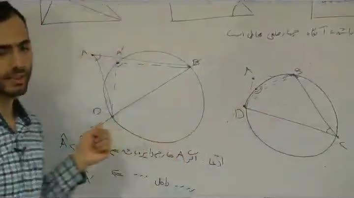 هندسه - آمادگی مرحله ۲ - جلسه دوم - خزلی - چهارضلعی محاطی 2