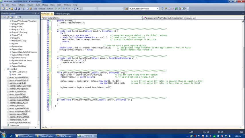 تخته سفید | OpenCV tutorial 5: Emgu CV with C#