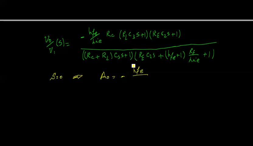 الکترونیک ۱ - جلسه 27 - اثر خازن کوپلاژ و بای پس بر پاسخ فرکانسی تقویت کننده.