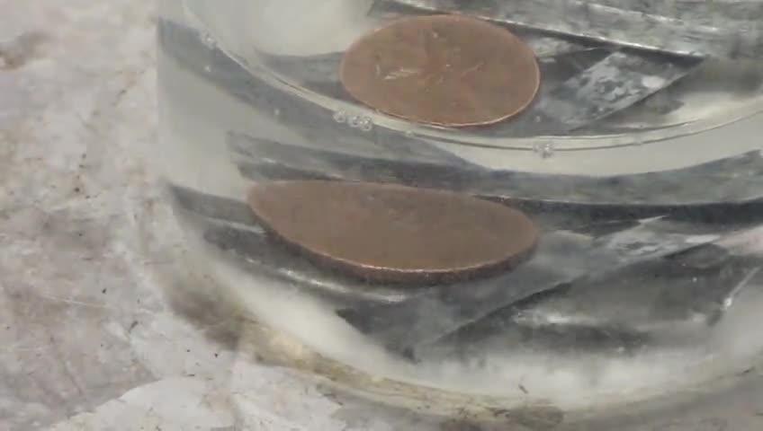 آزمایشگاه شیمی - آزمایش 1 - تغییر رنگ سکه مسی