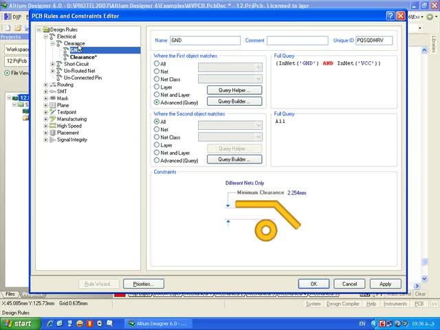 آموزش Protel DXP - جلسه 12 - تغییر قوانین طراحی