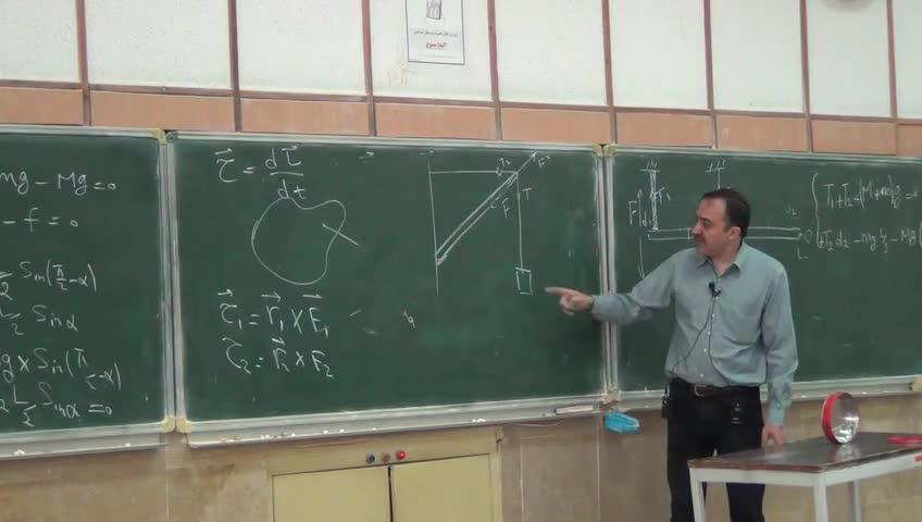فیزیک ١ - جلسه بیست یکم - تعادل جسم صلب