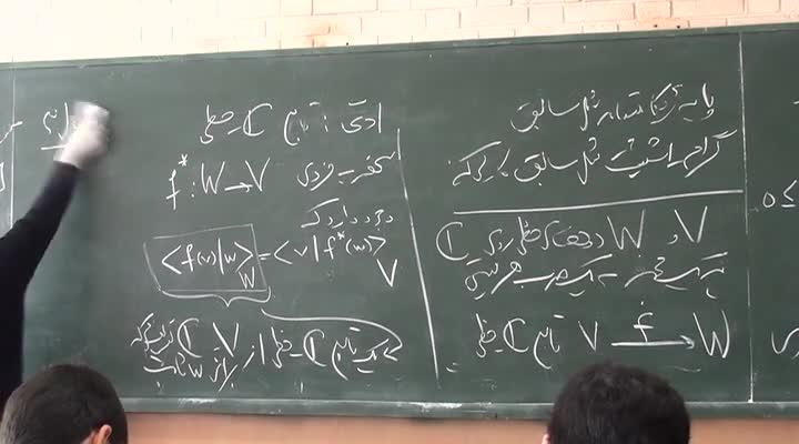 جبر خطی - جلسه ۱۹- بخش ۲ - ضرب هرمیتی - نامسوای کوشی شوارتز - خود الحاق -نگاشت یکانه 1