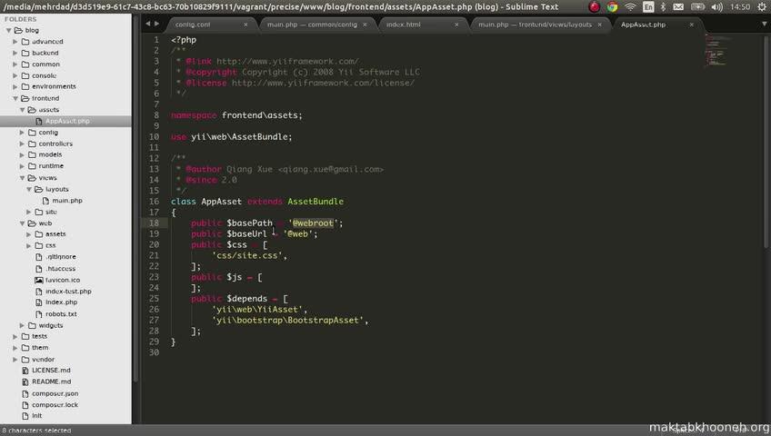 آموزش yii framework 2 - جلسه  72- bootstrap rtl