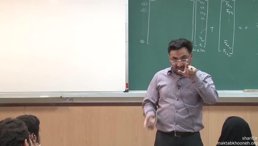 مقاومت مصالح ١ - جلسه ششم - تحلیل سازهی خرپا به کمک کامپیوتر