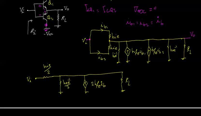 الکترونیک ۱ - جلسه 25 - حل مسئله ای از مدار چند ترانزیستوری.
