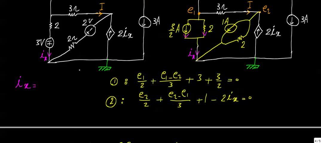 مدارهای الکتریکی ۱ - جلسه 23 - حل تمرین 2
