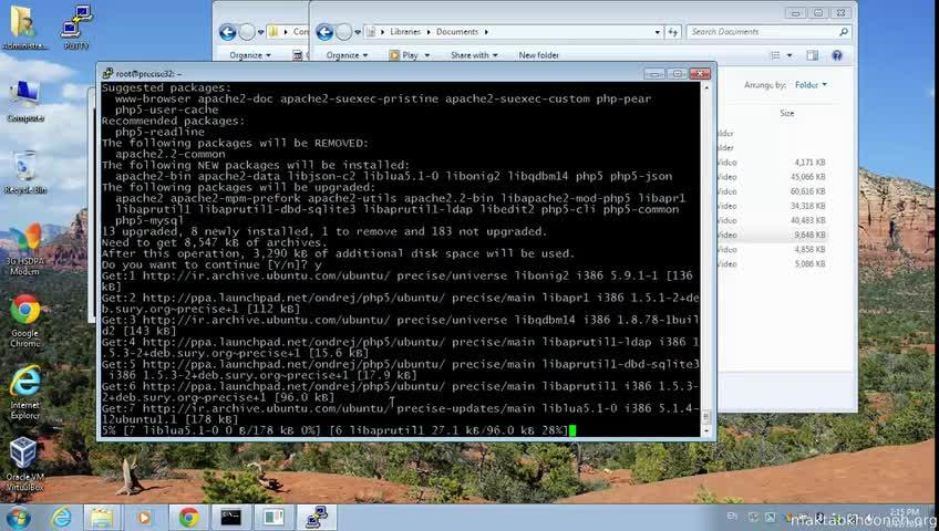آموزش yii framework 2 - جلسه  2- install php, mysql and apache2