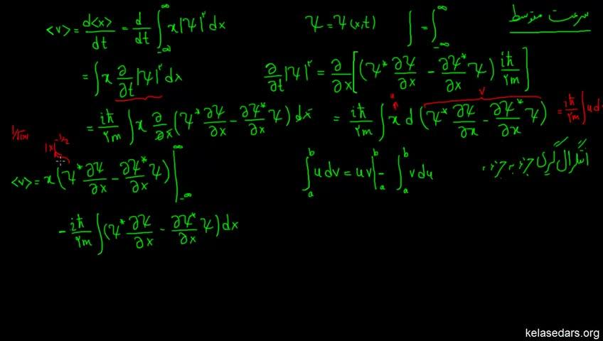 آموزش فیزیک کوانتوم به زبان ساده - جلسه 10 - اثبات رابطه سرعت متوسط