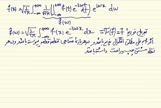 ریاضی مهندسی - جلسه هفتم - تبدیل فوریه