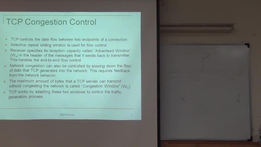شبکه مخابرات داده - جلسه بیست و ششم - Transport Layer, TCP, Congestion Control