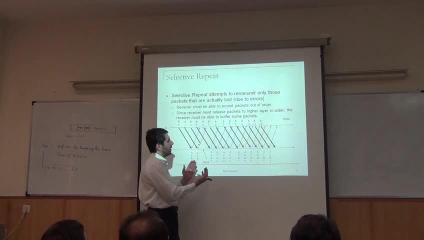 شبکه مخابرات داده - جلسه یازدهم - لایه پیوند داده ها، Go-Back-N و Selective-Repeat