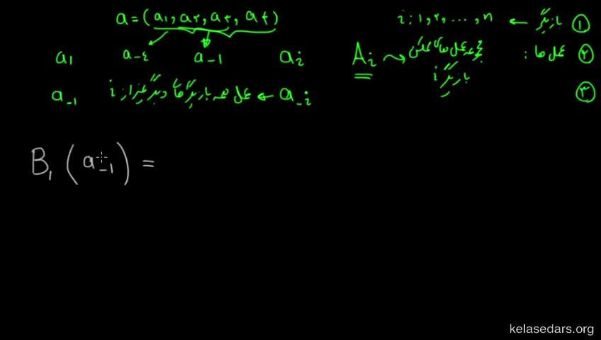 آموزش نظریه بازیها - جلسه 9 - رابطه بین تابع بهترین پاسخ و تعادل نش