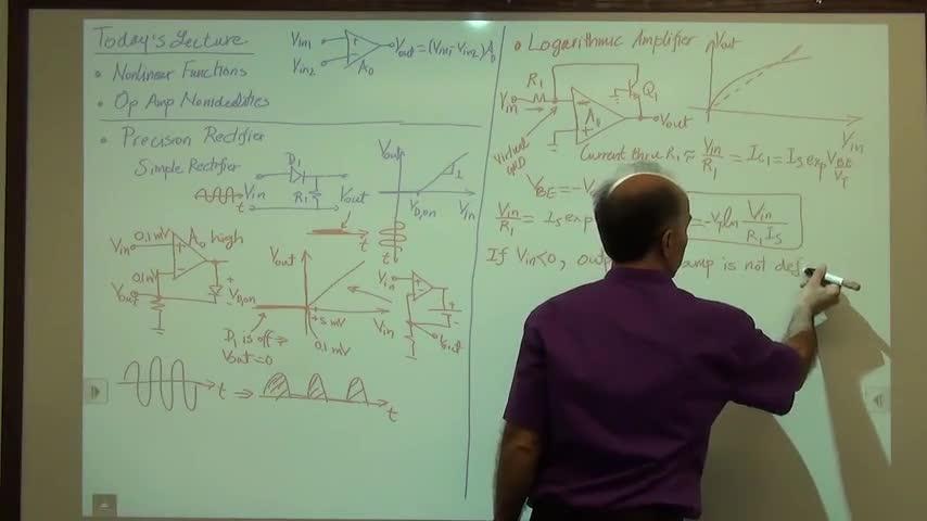 مدارات الکترونیک ۱ - جلسه چهل و چهارم - آپ امپ غیر خطی، آپ امپ غیر ایده آل
