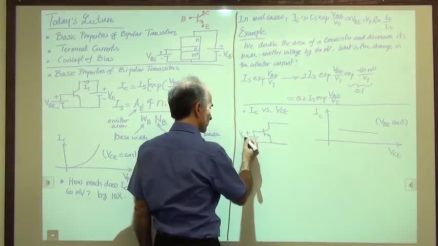 مدارات الکترونیک ۱ - جلسه چهاردهم - ویژگی های ترانزیستور دو قطبی