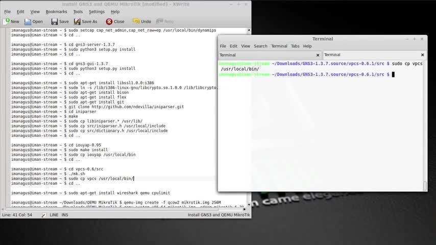 تخته سفید | Install GNS3 1 3 7 and QEMU MikroTik on GNS3 in