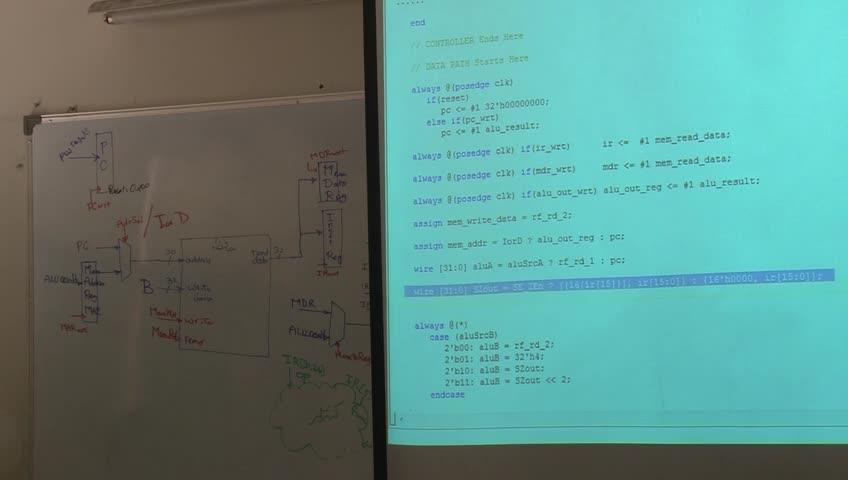 ساختار کامپیوتر پیشرفته - جلسه دوازدهم - پیاده سازی multi-cycle