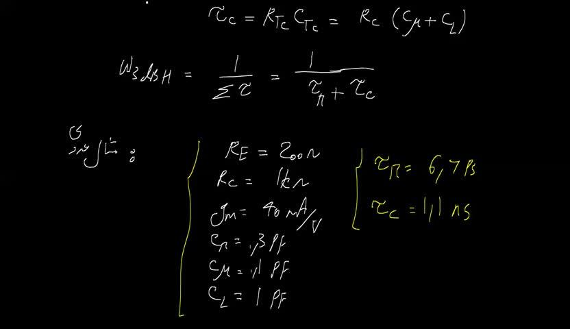 الکترونیک ۲ - جلسه 55 - پاسخ فرکانس بالای طبقه گیت (بیس) مشترک