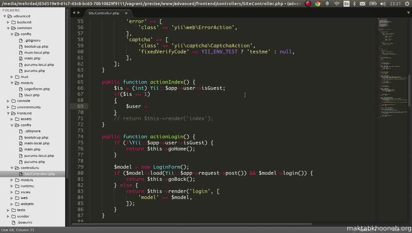 آموزش yii framework 2 - جلسه  95- user login