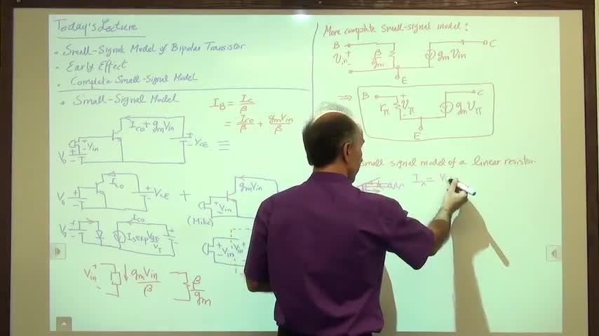 مدارات الکترونیک ۱ - جلسه هفدهم - مدل سیگنال کوچک