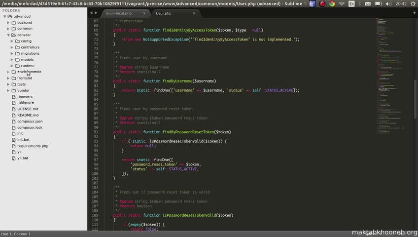 آموزش yii framework 2 - جلسه  8- file and folder structure