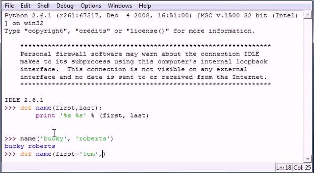 آموزش مقدماتی Python - جلسه ۲۸ - آموزش مقدماتی Python - Default Parameters