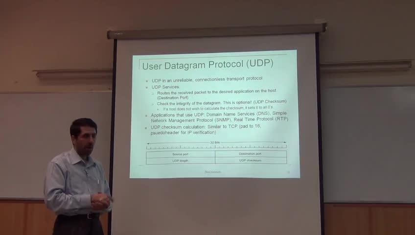 شبکه مخابرات داده - جلسه بیست و هفتم - TCP, UDP, RTP