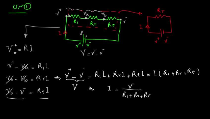 آموزش فیزیک 3 و آزمایشگاه دبیرستان - جلسه 22 - مقاومتهای سری و موازی و مقاومت معادل