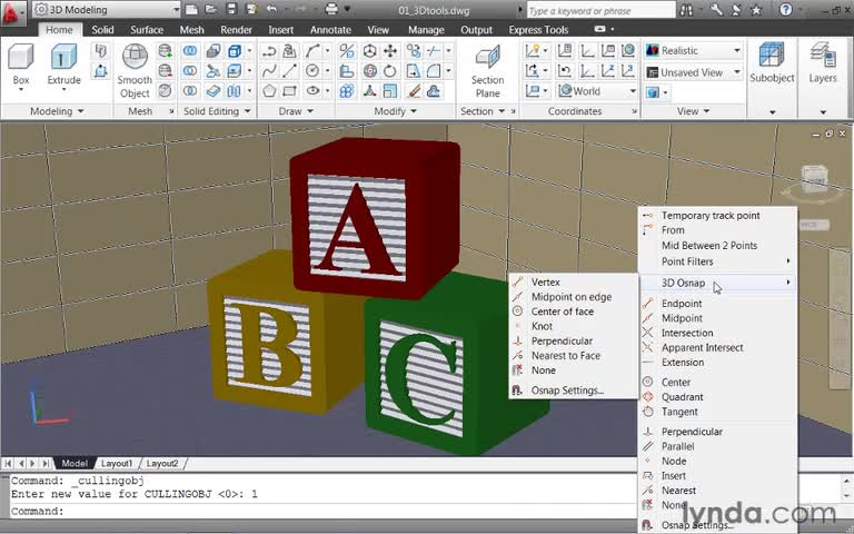 آموزش AutoCad - جلسه ۲۱ - آموزش مقدماتی AutoCAD - 3Dtools
