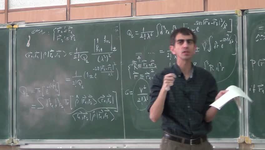 ترمودینامیک و مکانیک آماری ٢ - جلسه نوزدهم
