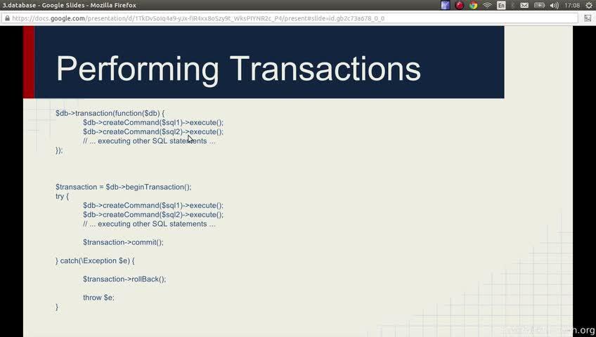 آموزش yii framework 2 - جلسه  37- transaction