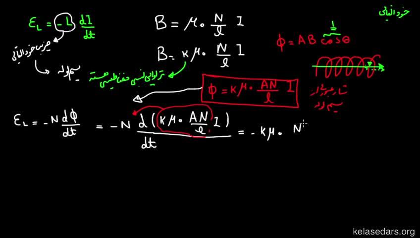 آموزش فیزیک 3 و آزمایشگاه دبیرستان - جلسه 46 - ضریب خودالقایی سیملوله