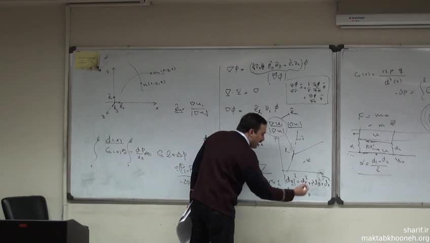 مکانیک سیالات - جلسه بیست و سوم - حل مساله با استفاده از معادله Navier-Stokes