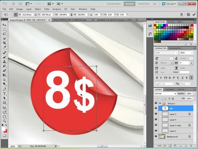 آموزش فتوشاپ (Photoshop) - جلسه 22 - ساخت لیبل های کوچک و زیبا