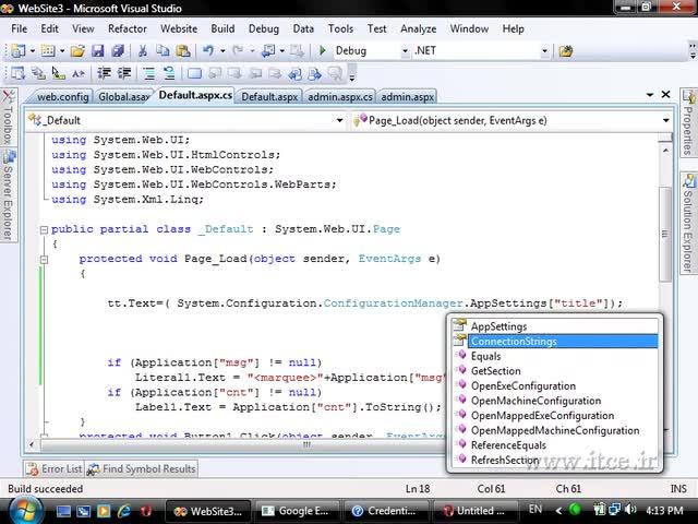 آموزش ASP.net - مبحث - WebConfig