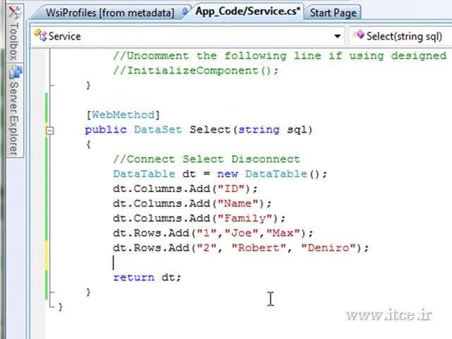 آموزش ASP.net - مبحث - Web Service - Part 2