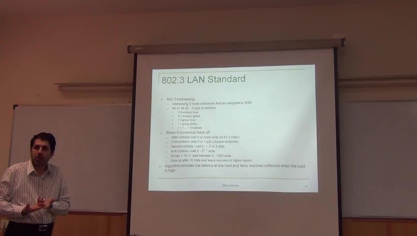 شبکه مخابرات داده - جلسه پانزدهم - استاندارد های سری IEEE 802.x و Ethernet