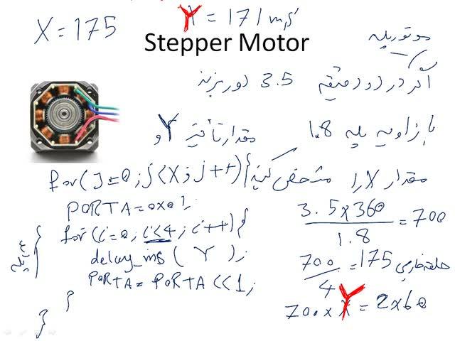 میکروکنترلرهای AVR - میکروکنترلر AVR - جلسه ١٥ - Stepper