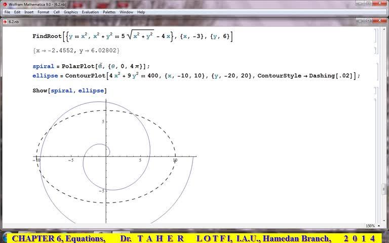 آموزش متمتیکا (Mathematica) - جلسه 38 -  بخش دهم