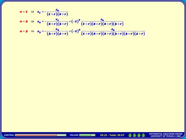 معادلات دیفرانسیل - جلسه 35 - معادلات دیفرانسیل - بسل مرتبه 0