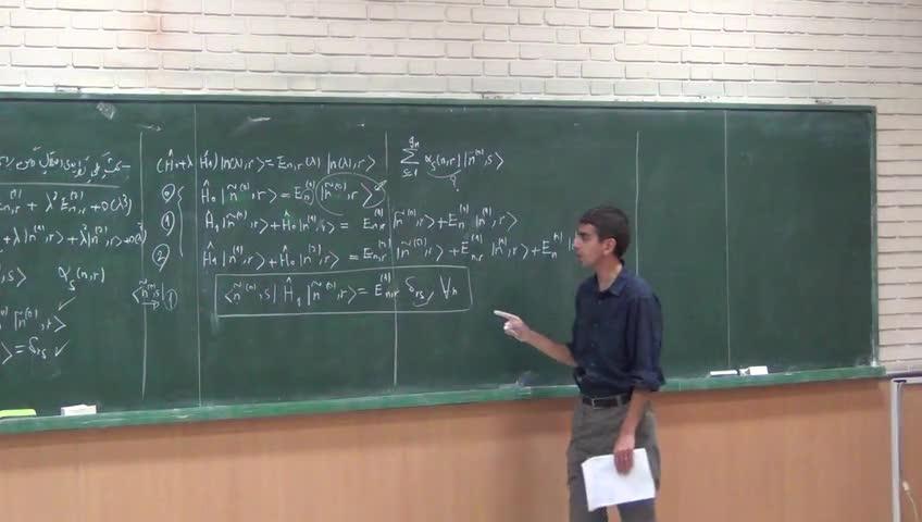 ریاضی فیزیک ١ - جلسه بیستم - نظریه اختلال ویژه برداری ماتریس ، عملگرهای به هنجار