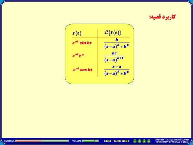 معادلات دیفرانسیل - جلسه 39 - معادلات دیفرانسیل - توابع پله ای