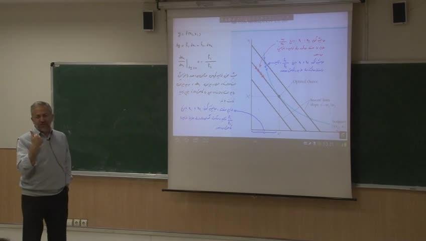 اقتصاد خرد- دوره فرعی - جلسه دوازدهم - بهینه سازی و ماکزیمم سازی مطلوبیت