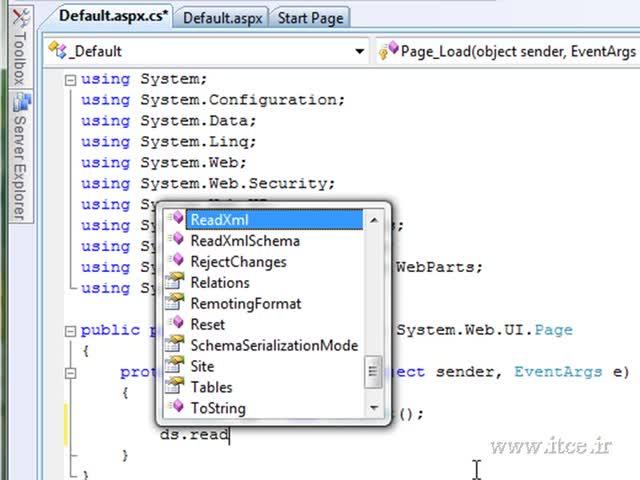 آموزش ASP.net - مبحث - مثالی از XML