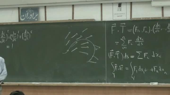 ریاضی عمومی ۲ - جلسه ۳۶ - میدان برداری ، خم و قضایای برداری (کرل، دیورجانس و گرادیان)(بخش دوم)