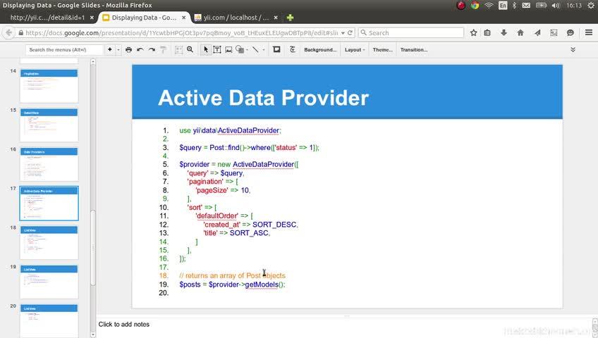 آموزش yii framework 2 - جلسه  67- data provider