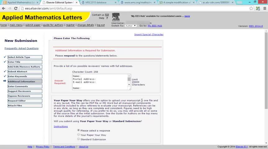 آشنایی با لتکس و نحوه ارسال مقالات ISI - جلسه ششم - نحوه ارسال مقاله به Elsevier